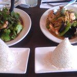 Salmon Tamarind and Seafood Combo with Rice