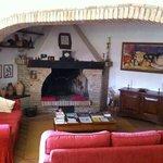Inviting fireplace at Fontechiara