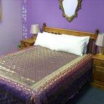 The beautiful Purple Nights room, an en suite double room