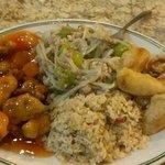 pork chow mein with friedrice