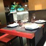 vista de una mesa