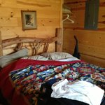 Queen bedroom In small cabin
