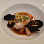 seafood of the day: Monk Fish, Sepia, Gambas and mussels