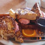 French Toast with Strawberry cream cheese