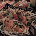 Salade Thaï aux crevettes :D