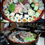 2 sushi platters - absolutely delicious !