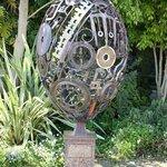 Artwork in garden