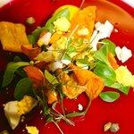 Rote Bete Sülze mit Aromaölen und Knuspersalat