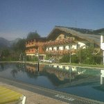 Tennis hotel - morning by the pool