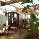 Terrace near breakfast room/bar