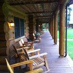 main porch of lodge