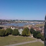 The submarine seen from Rochester castle.