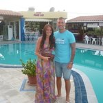 me an the misses at poolside