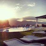 Belvedere dalla piscina dell'hotel.