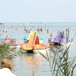 Paddle boats on Lake Balaton