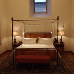 High ceilinged bedroom
