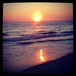 sunset at the nautilus&free beach