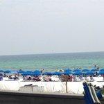 The beach is a short walk