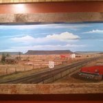 Route 66 picture on wall