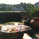 A breakfast on the terrace