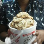 Bucket Of Fresh Baked Cookies From The Fair - Yummmy!!!