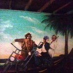 Easy Rider mural in garage