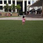 Patio behind Hotel