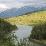 View of the Kenai River from the dining patio at the Kenai Princess Wilderness Lodge