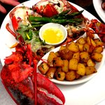 Thermidor lobster with sauteed potatoes