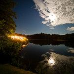 Lakeside Pavilion at dusk