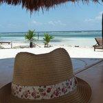 Spiaggia di fronte all'albergo