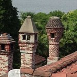 cute chimneys and view to Lago Maggiore from our balcony