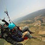 paragliding with Entrenúvols above Àger village