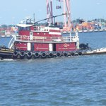 tugboats on the river