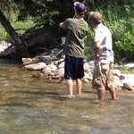 Fly fishing with Nate