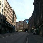 View of the hotel up Kaisaniemenkatu Street