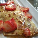 strawberry blonde crepe