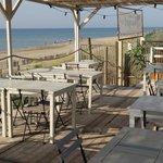 La terrasse de notre restaurant le Beach