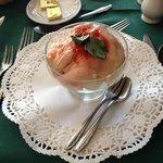 prawn in pink sauce.fantastic!