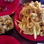 Captains platter and Fried clams