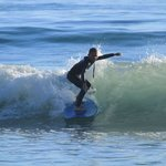 Parks, 9 years old surfing with great instruction from Pat