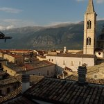 View of Sulmona from rooftop patio
