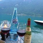Lake, water and wine