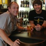 Me and Devin , the man with the knowledge of Beer!