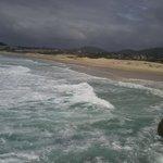 A simpática praia do santinho