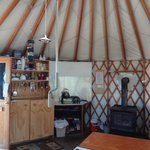 Stargaze Yurt interior