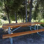 Stargaze Yurt picnic table