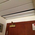 Plafond donnant directement dans les combles sous-toit