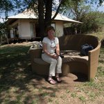 Sitting area by safari vehicles