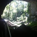 Entrance from inside the cave